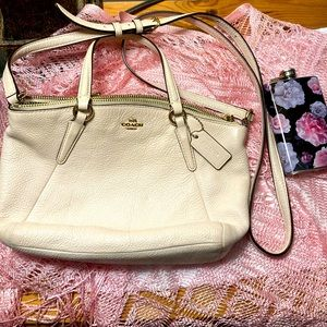 Coach mini Kelsie white leather